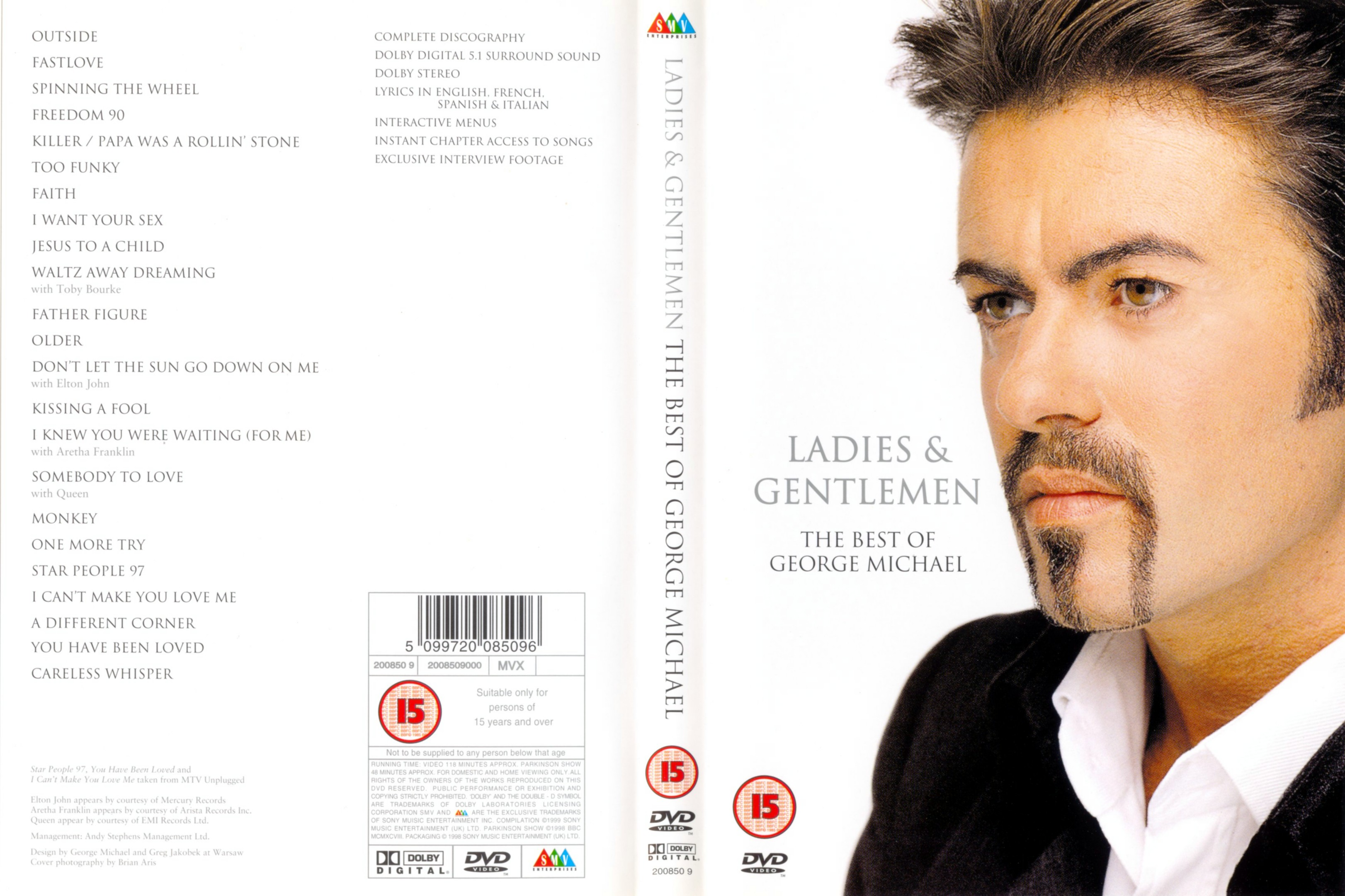 Jaquette DVD George Michael The Best Of