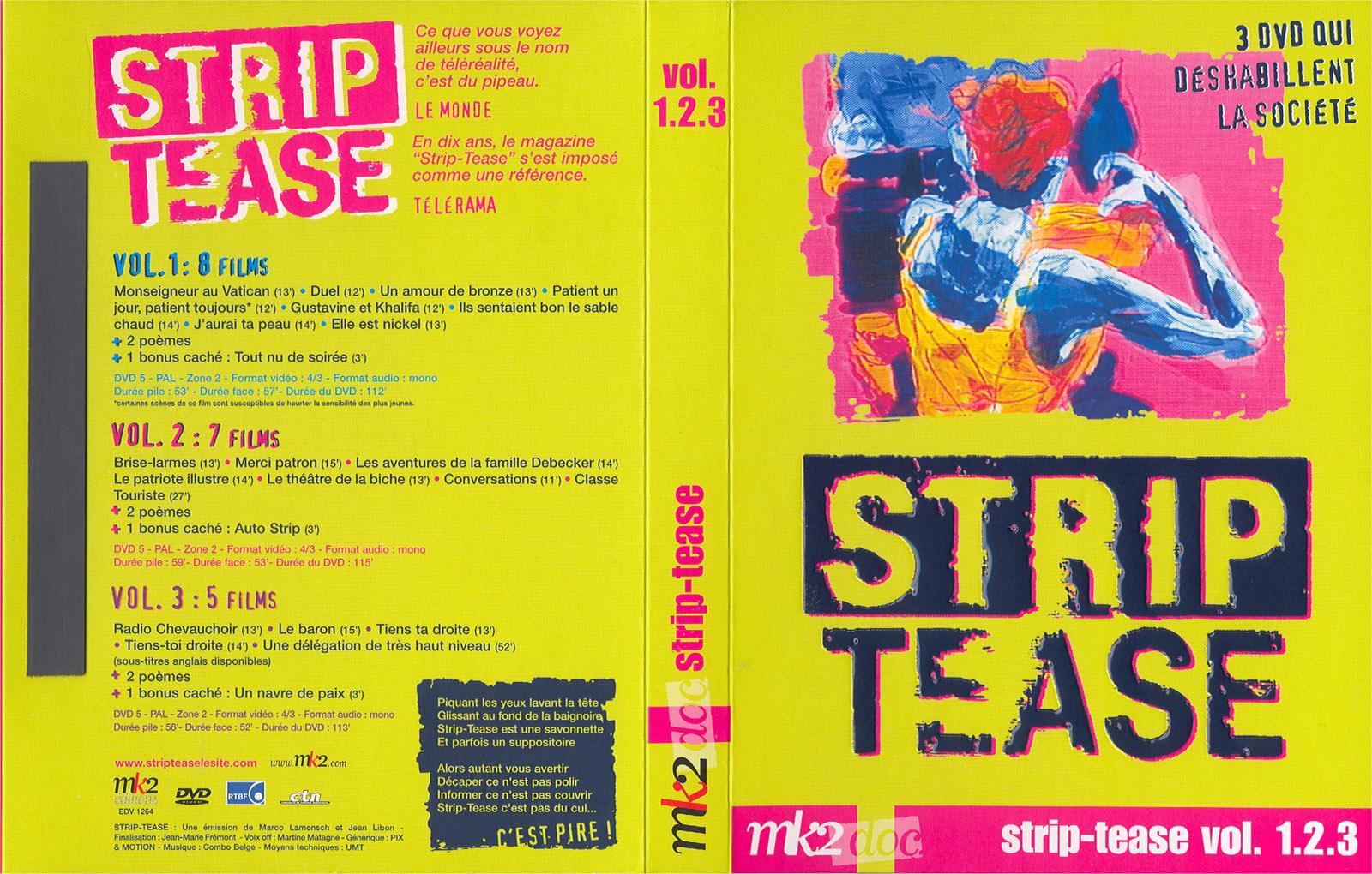 Jaquette DVD Strip tease vol 1-2-3