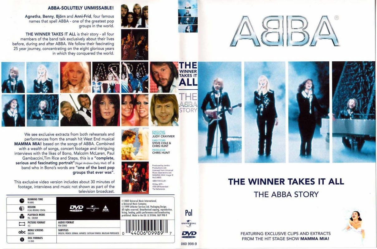 Jaquette DVD Abba The Winner Takes It All