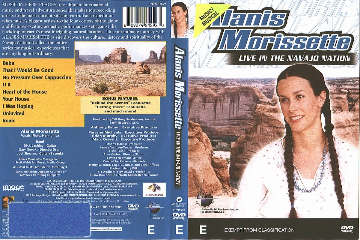 Jaquette DVD Alanis Morissette Live In The Navajo Nation