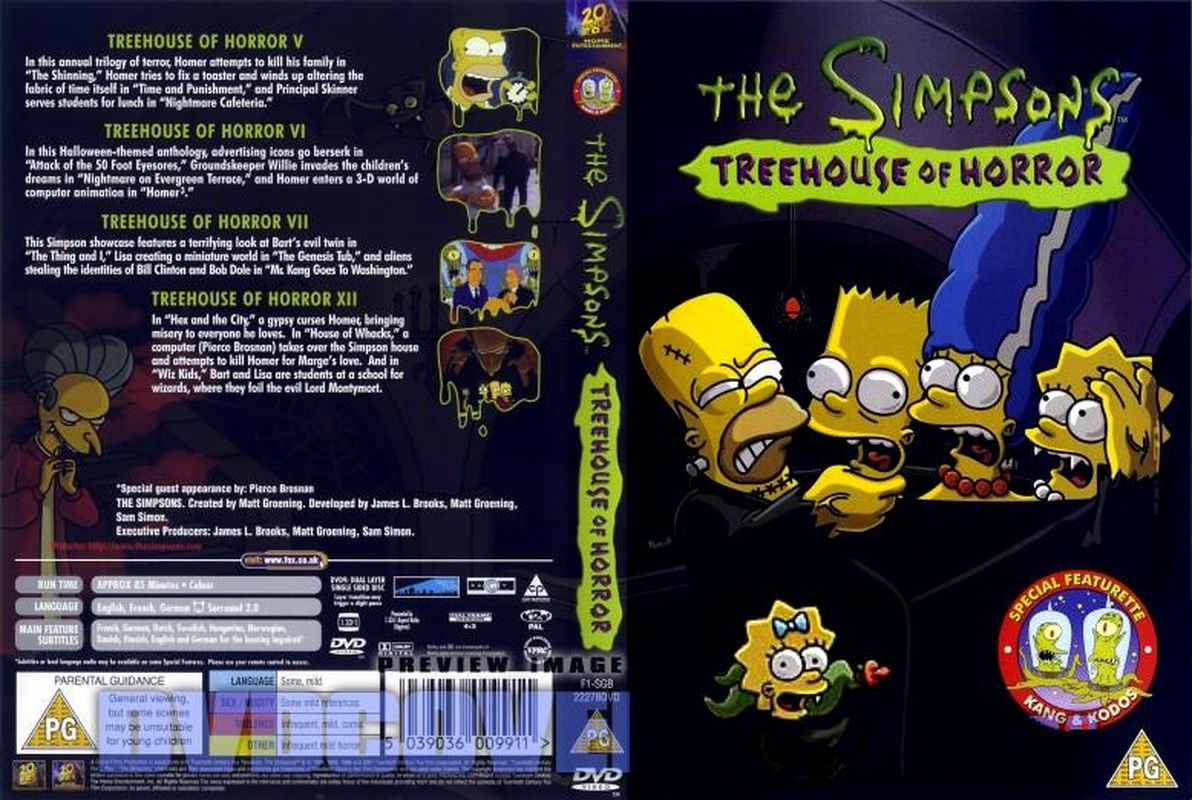 Jaquette DVD The Simpsons Treehouse Of Horror