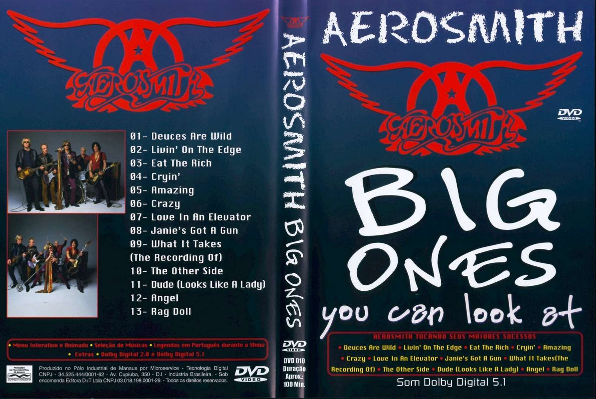Jaquette DVD Aerosmith Big Ones