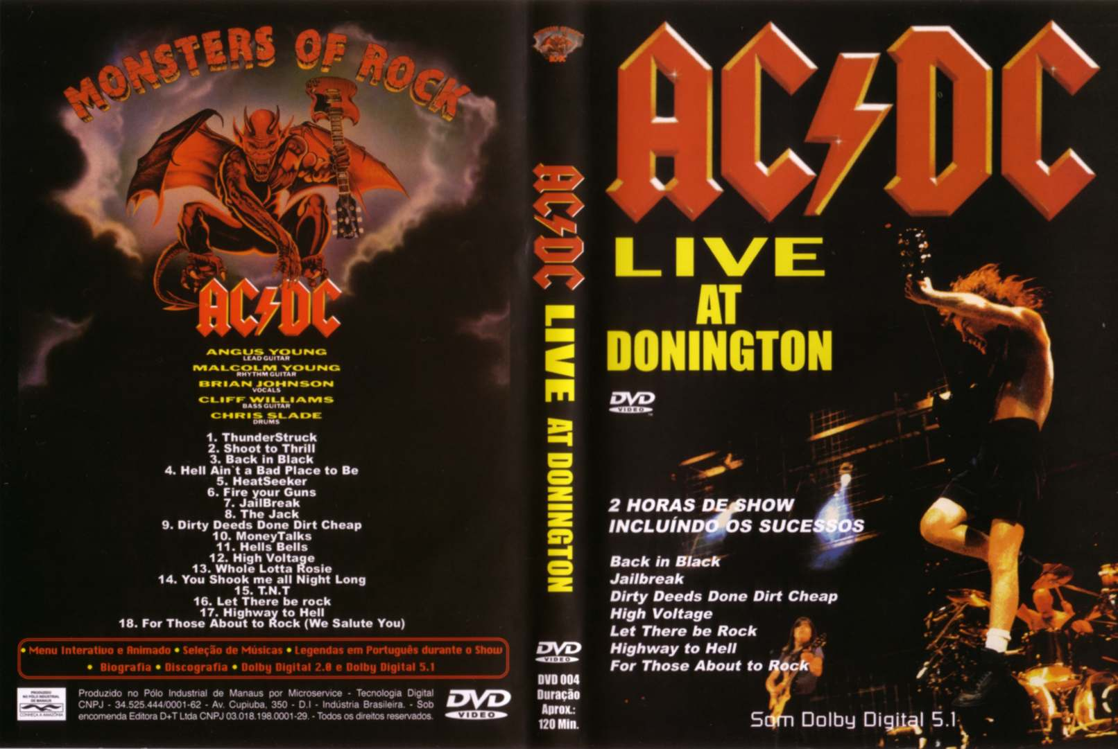 Jaquette DVD ACDC live at donington